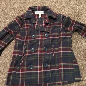 Aeropostale plaid jacket with buttons